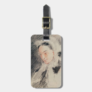 Empress Eugénie (black & red chalk) Luggage Tag