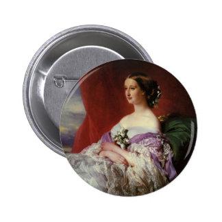Empress Eugenie  by Franz Xaver Winterhalter Button