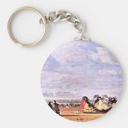 Empress Eugenie On The Beach At Trouville Key Chain