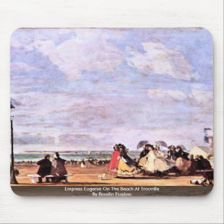 Empress Eugenie On The Beach At Trouville Mouse Pad
