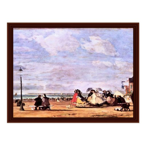Empress Eugenie On The Beach At Trouville Postcard