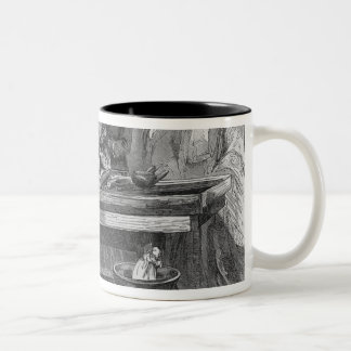 Empress Eugenie silvering a mirror Two-Tone Coffee Mug