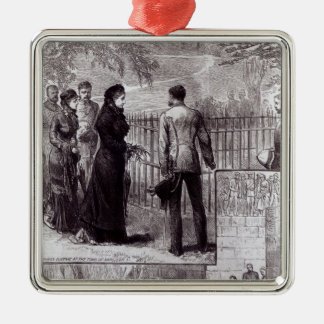 Empress Eugenie visiting the tomb of Napoleon I Metal Ornament