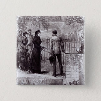 Empress Eugenie visiting the tomb of Napoleon I Pinback Button