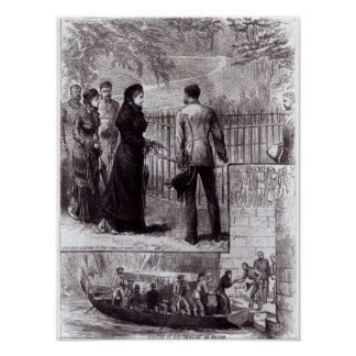Empress Eugenie visiting the tomb of Napoleon I Poster