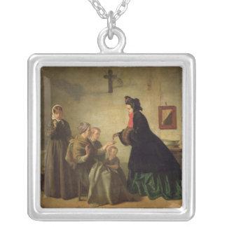 Empress Eugenie  Visiting the Unfortunate, 1864 Custom Necklace