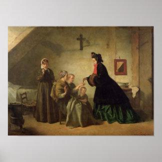 Empress Eugenie  Visiting the Unfortunate, 1864 Poster