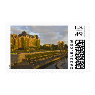 Empress Hotel and Inner Harbour waterfront Postage Stamp