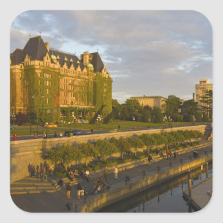Empress Hotel and Inner Harbour waterfront, Square Sticker