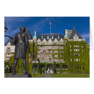 Empress Hotel and statue of Captain James Cook, Card