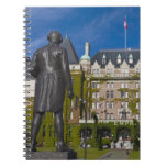 Empress Hotel and statue of Captain James Cook, Spiral Note Book