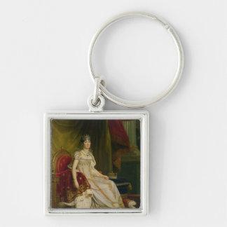 Empress Josephine  1808 Silver-Colored Square Keychain