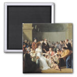 Empress Josephine  Among the Children, 1806 2 Inch Square Magnet