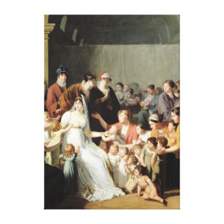 Empress Josephine  Among the Children, 1806 Canvas Print
