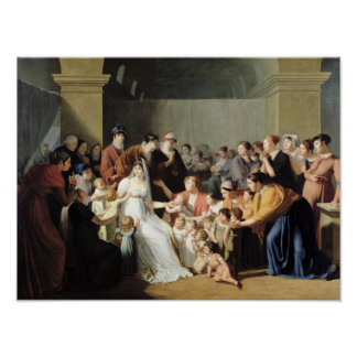 Empress Josephine  Among the Children, 1806 Poster