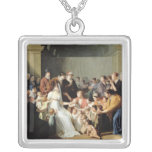 Empress Josephine  Among the Children, 1806 Square Pendant Necklace
