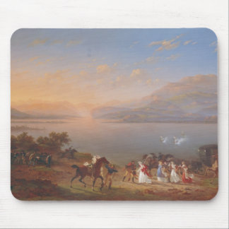 Empress Josephine  arriving to visit Napoleon Mouse Pad
