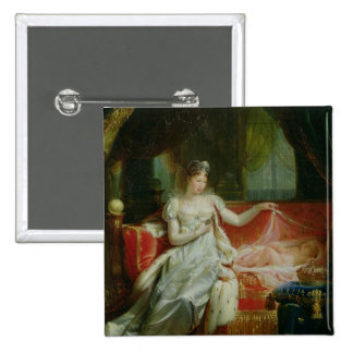 Empress Marie-Louise  and the King of Rome, 1812 2 Inch Square Button