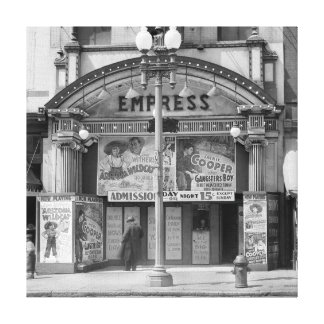Empress Movie Theater, 1939 Canvas Print