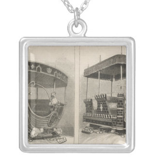 Empress of India Square Pendant Necklace