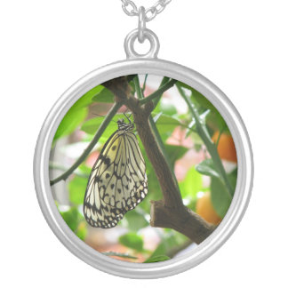 Empress of Oranges ~ Trees Please Sterling Silver Silver Plated Necklace