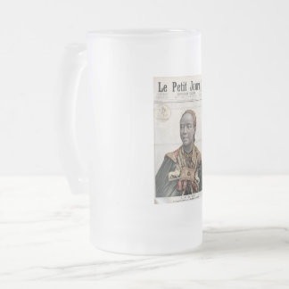 Empress Taytu Betul on the 1896 Le Petit Journal Frosted Glass Beer Mug