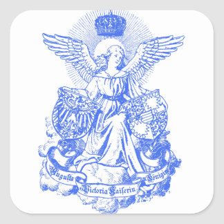 Empress Wings & Crown Square Sticker