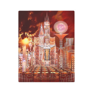 Emprise Entry City of Tomorrow Metal Print