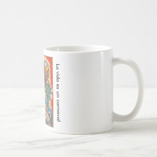Emptied are a carnival classic white coffee mug