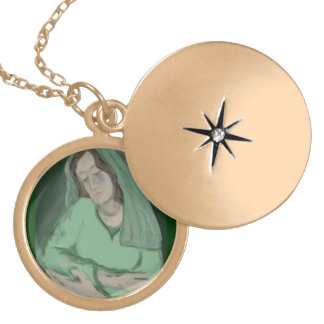 Empty Arms Gold Locket