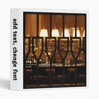 Empty Bar Room Binder