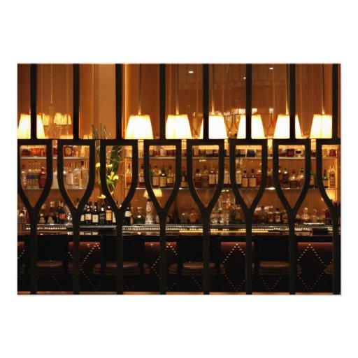 Empty Bar Room Custom Invitation
