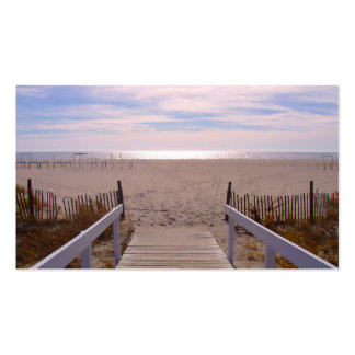 Empty Beach Double-Sided Standard Business Cards (Pack Of 100)
