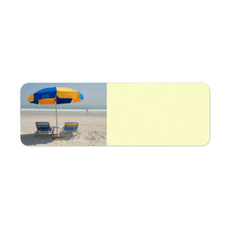 empty beach chairs return address labels