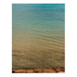 Empty beach postcard