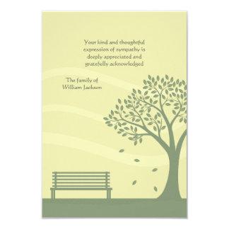 Empty Bench Bereavement Thank You Notecard