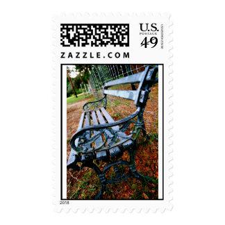 Empty Bench Postage Stamp