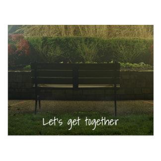 Empty Bench Postcard