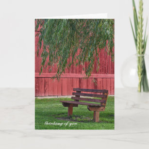 Willow tree cards zazzle empty bench under willow tree card m4hsunfo
