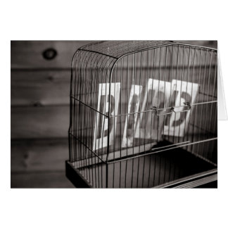 Empty bird cage card