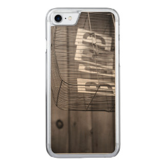 Empty bird cage carved iPhone 7 case