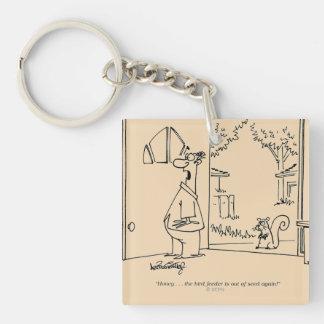 Empty Bird Feeder Acrylic Key Chains