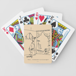 Empty Bird Feeder Bicycle Playing Cards