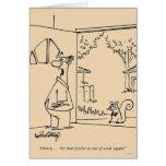 Empty Bird Feeder Greeting Card
