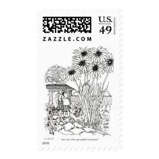 Empty Bird Feeder Postage Stamps