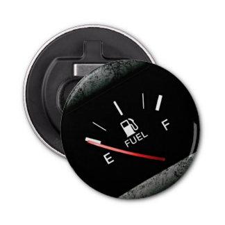 Empty Black Fuel Gas Gauge Bottle Opener