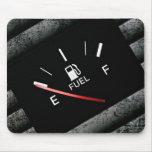 Empty Black Fuel Gas Gauge Mouse Pad