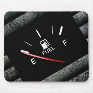 Empty Black Fuel Gas Gauge Mouse Pad