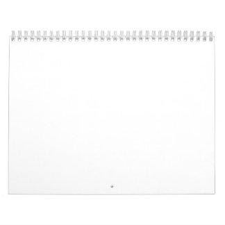 Empty Calendar 2018 With White Wire