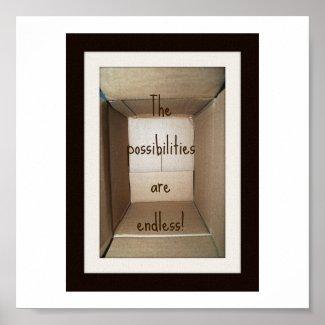 empty cardboard box2 print
